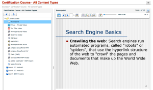 Example course with various content types